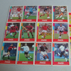 Coca-cola 1993 Football trading cards (UK) international teams @sold@